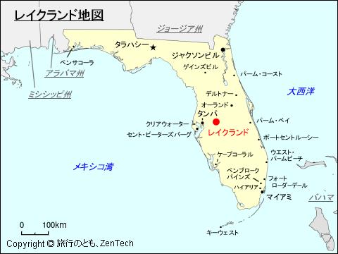 レイク ランド 地図